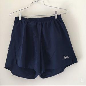 ASICS navy training shorts